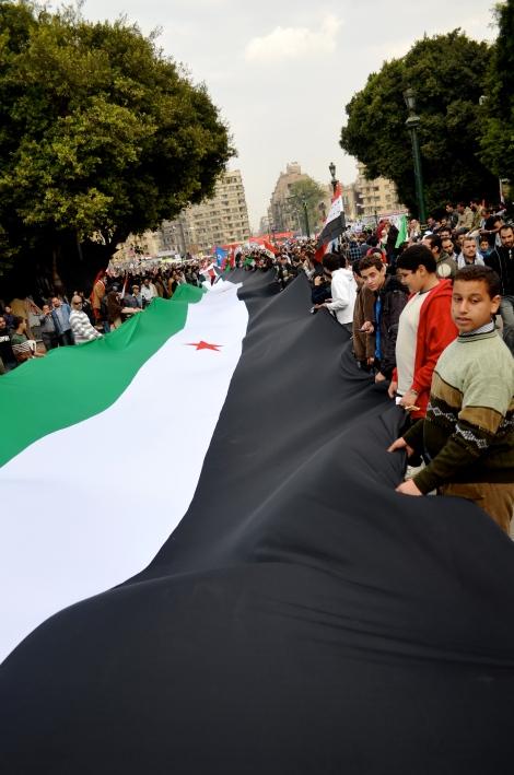 Manifestation de soutien à la rebellions syrienne en Egypte© DR
