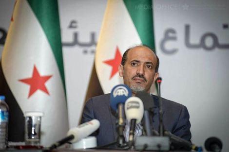 Ahmad Jarba, le chef de la coalition nationale syrienne. © DR