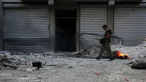 Soldat syrien de l'armée libre à Alep ©DR