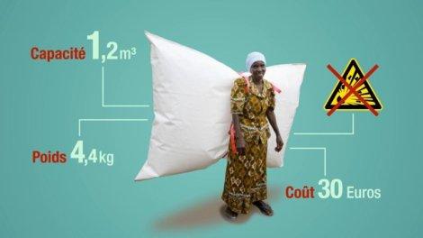 Le biogas backpack va permettre de lutter contre la déforestation et fournir de l'énergie aux populations rurales en Ethiopie. ©AFD