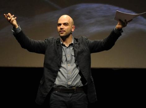 Roberto Saviano al Festival internazionale del giornalismo nel 2011 ©DR