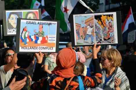 Le président français François Hollande a été conspué lors des manifestations pour la défense de la Palestine ©Charles Rassaert