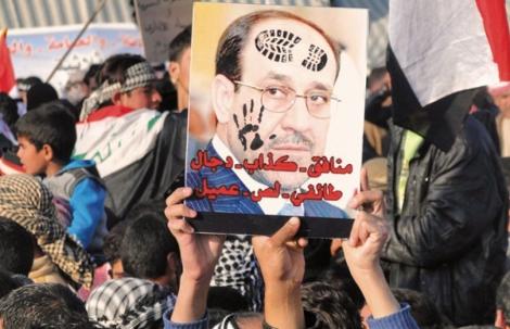 Depuis décembre 2012, les populations sunnites d'Irak ont manifesté contre la politique sectaire de Nouri al-Maliki. ©DR