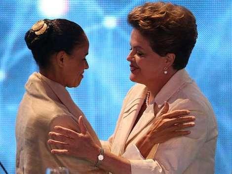 Dilma Roussef et Marina Silva sont au coude-à-coude dans les sondages avant le premier tour qui aura lieu le 5 octobre prochain. ©Alex Silva.