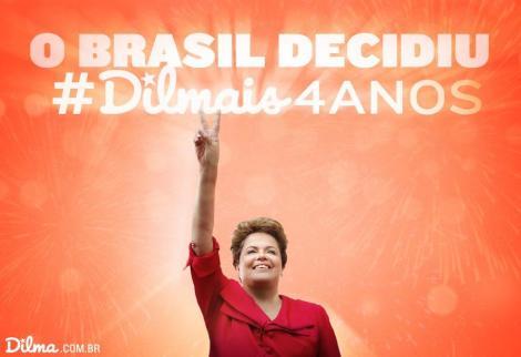 Comme son prédécesseur Lula, Dilma Roussef va briguer un second mandat. ©@dilmabr