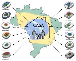 Plus de 3,5 millions de logements ont été construits en 2014 au Brésil. Des logements seront ils bientôt dans les stades ? © DR
